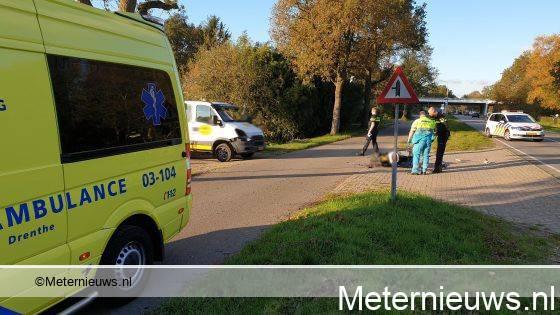 Scooterrijder gewond na ongeval in Assen.