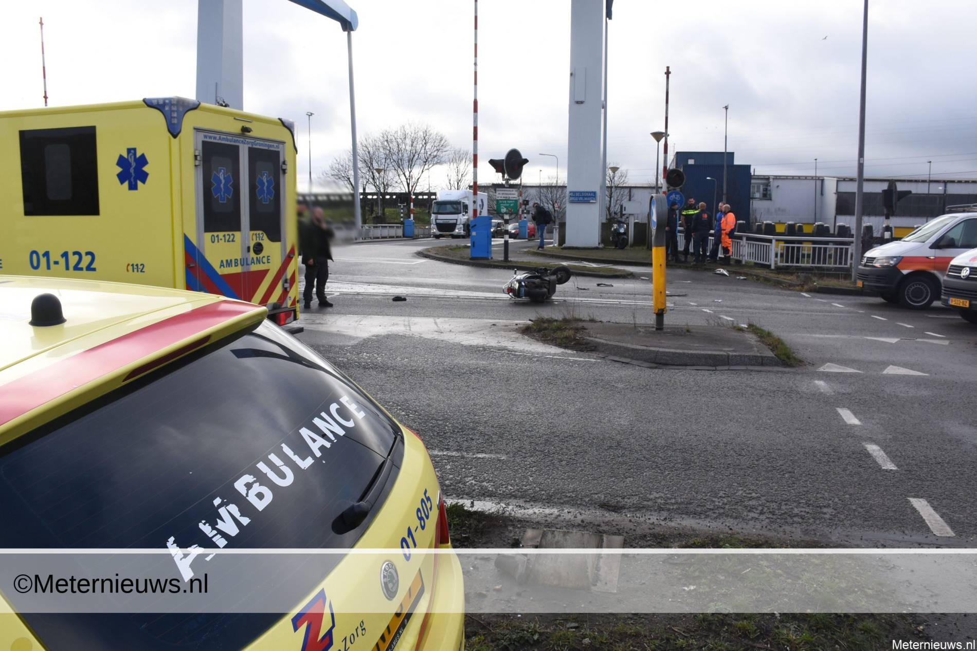 ernstig ongeval scooterrijder Groningen