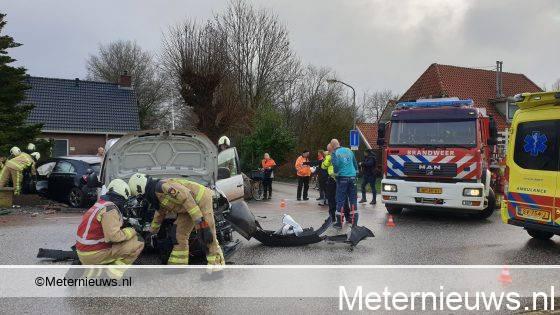 Twee gewonden na fors ongeval in Bovensmilde.