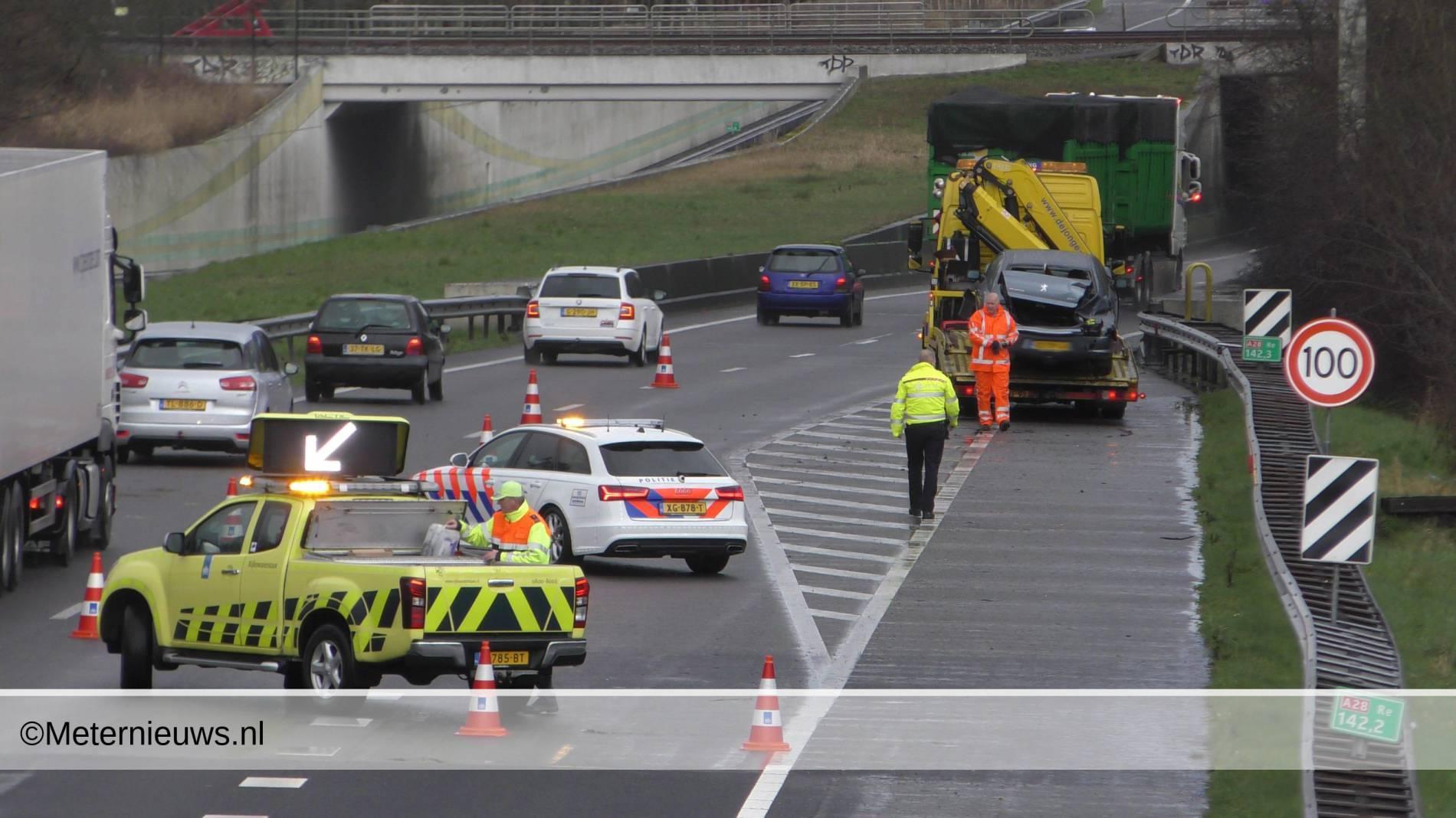 ongeval a28 Hoogeveen