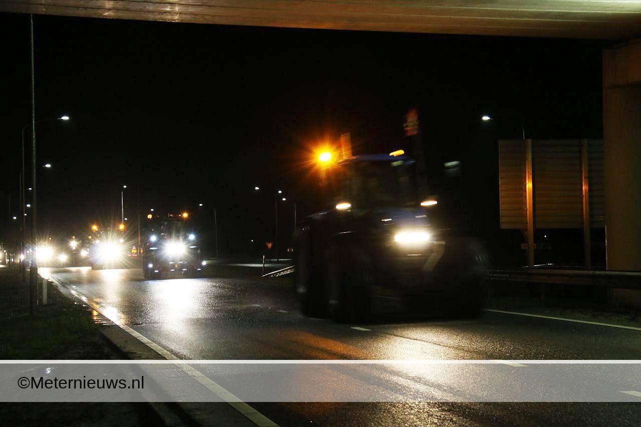tractoren op weg naar Den Haag