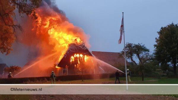 woning afgebrand in Zweeloo