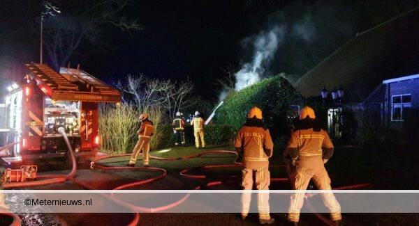 brand schuurtje in Elp
