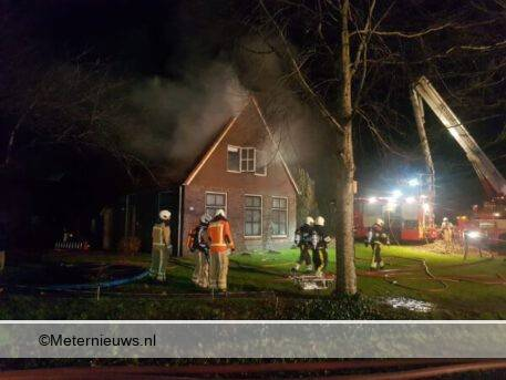 woningbrand in Nijensleek