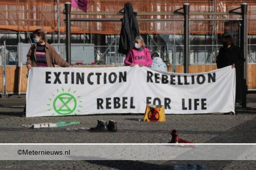 demonstratie Extinction Rebellion Groningen