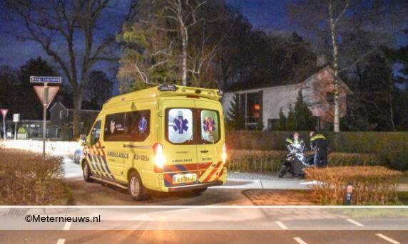 scooterrijder gewond valpartij Eelde
