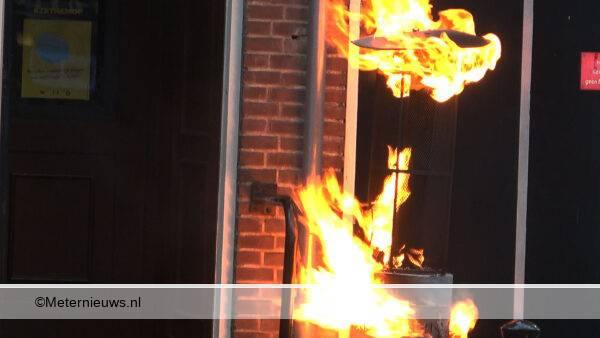 terrasverwarming in de brand in meppel