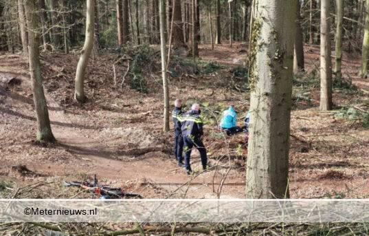moutain biker gewond Zuidlaren