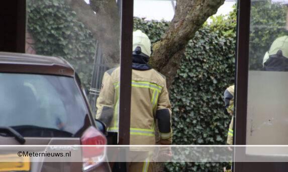 coniferen Haag in brand in bargercompascuum