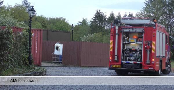 wasdroger in brand in Klijndijk