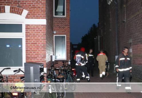 brand woning Groningen