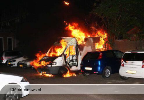camper in brand Groningen