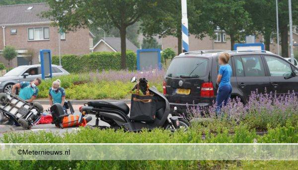 scootmobieler gewond na botsing met automobilist in Drentse Rode