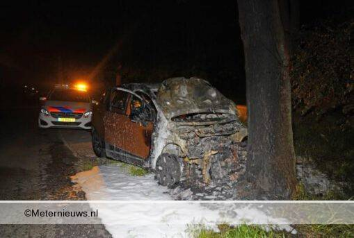 autobrand na ongeval De Krimweb