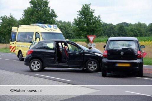 autos botsen in Coevorden2