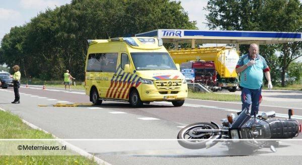 ongeval motorrijder n381 Beilen2