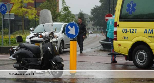 ongeval scooter auto Assen00