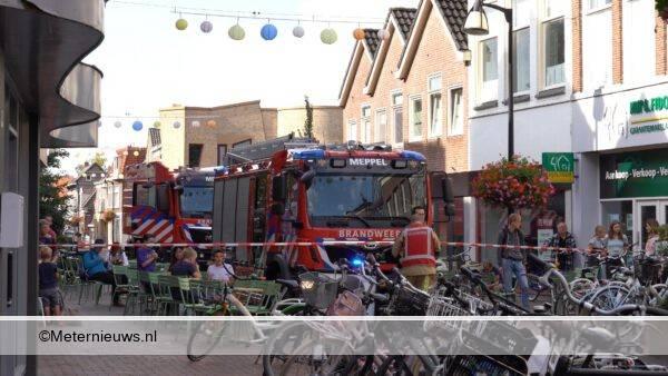 binnenstad Meppel afgesloten gasachtigelucht