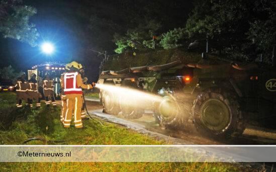 militairvoertuig in brand havelterberg