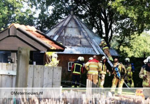 schuurtje in brand in Zuidwolde