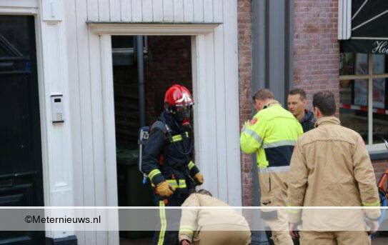 Brand in keuekn hotel in Groningen